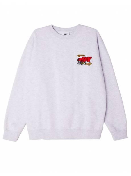 Obey brick by brick crewneck sweater - ash obey Sweater 99,00€