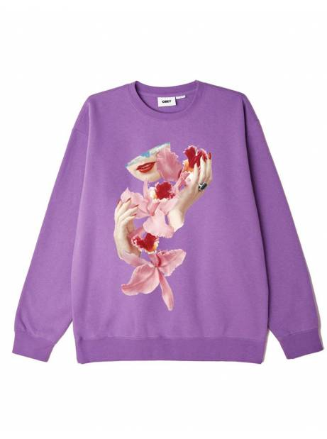 Obey Orchid box fit premium crewneck sweater - orchid obey Sweater 78,69€