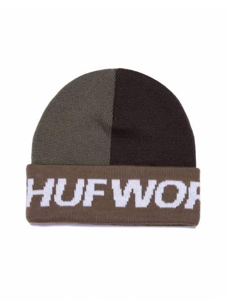 Huf street block beanie - green/brown Huf Beanie 28,69€