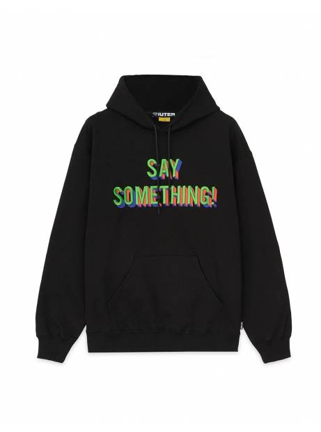 Iuter Say something hoodie - black IUTER Sweater 138,52€