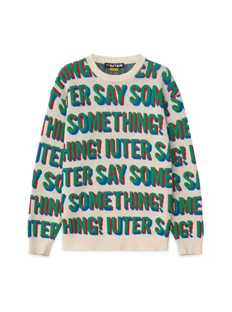 Iuter Say something jumper knit - white IUTER Knitwear 149,00€