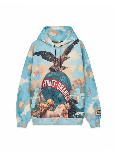 Iuter x Fernet Branca 1904 hoodie - light blue IUTER Sweater 185,00€
