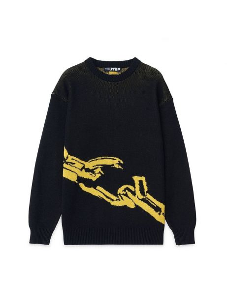 Iuter Chain jumper knit - black IUTER Knitwear 129,00€