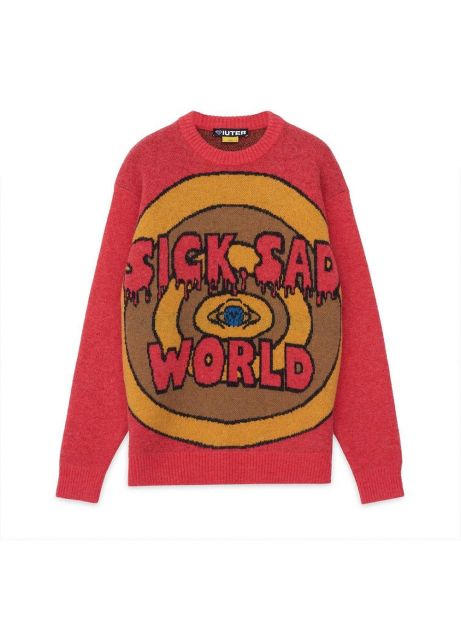 Iuter Sad world jumper knit - red IUTER Knitwear 189,00€