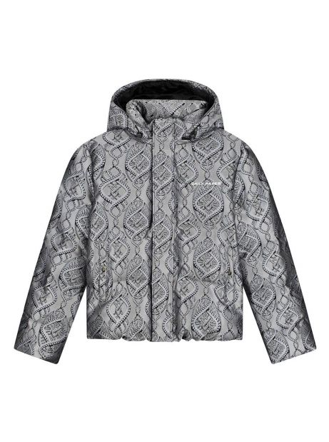 Daily Paper Lotan puffer jacket - grey / blue braids DAILY PAPER Bomber 245,08€
