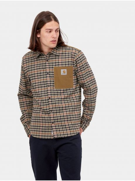 Carhartt Wip Asher shirt - asher check / leather CARHARTT WIP Shirt 106,56€