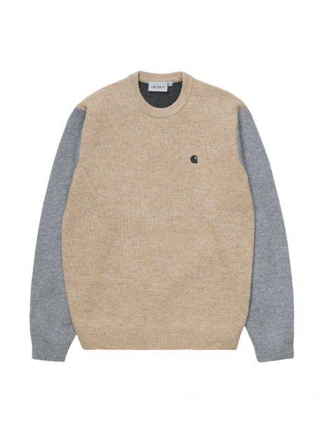 Carhartt Wip Triple knit sweater - dusty h/grey/black CARHARTT WIP Knitwear 120,00€