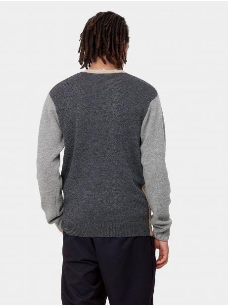 Carhartt Wip Triple knit sweater - dusty h/grey/black CARHARTT WIP Knitwear 98,36€