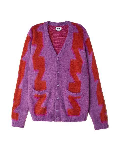 Obey Dexter cardigan - orchid multi obey Knitwear 109,00€