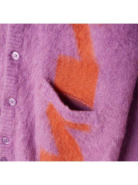 Obey Dexter cardigan - orchid multi obey Knitwear 89,34€