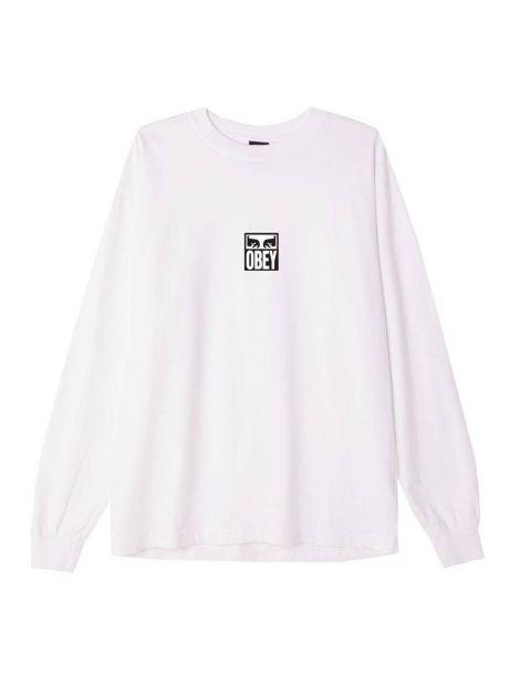 Obey Eyes icon 3 heavyweight longsleeve - white obey T-shirt 60,00€