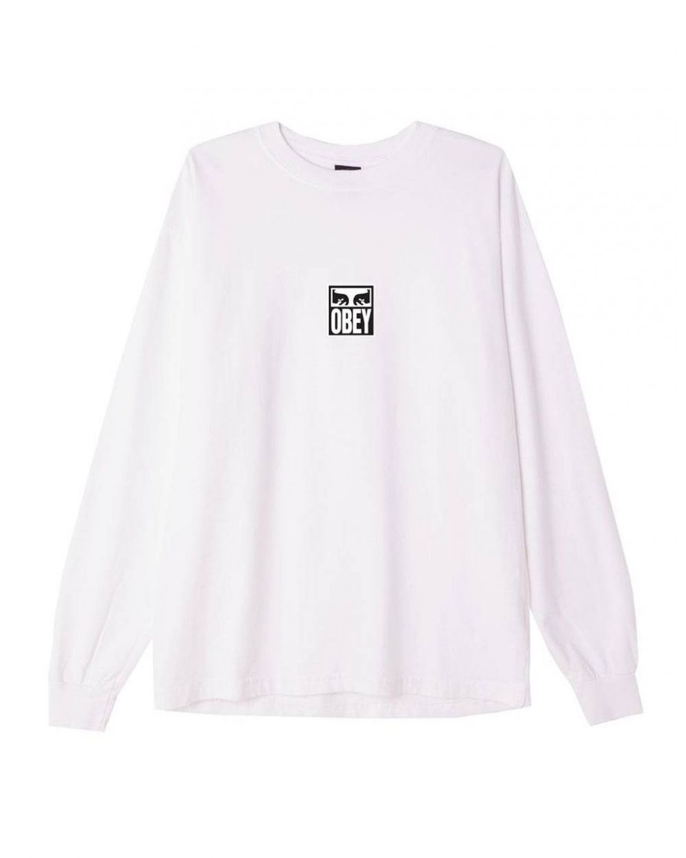 Obey Eyes icon 3 heavyweight longsleeve - white obey T-shirt 49,18€