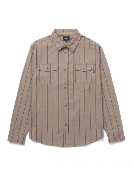 Huf issue stripe flannel shirt - walnut Huf Shirt 105,00€
