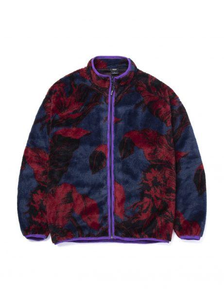 Huf Sativa floral full zip sherpa jacket - navy blazer Huf Jacket 160,00€