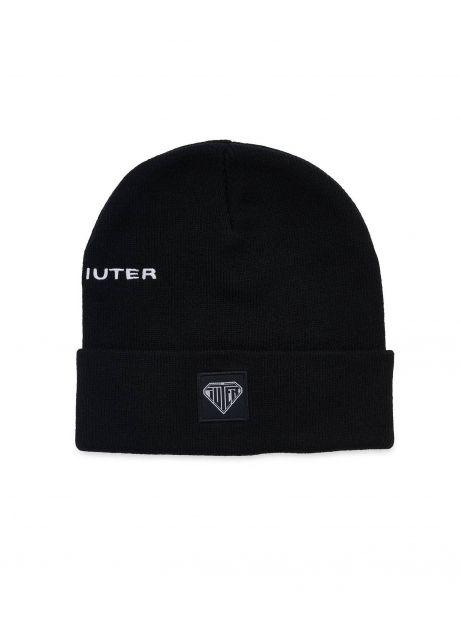 Iuter logo fold beanie - black IUTER Beanie 30,00€