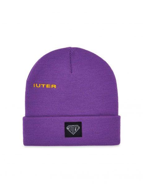 Iuter logo fold beanie - purple IUTER Beanie 24,59€
