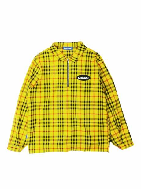 Usual Half zip check shirt - Yellow/black Usual Shirt 125,00€
