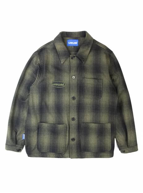 Usual Work wool overshirt jacket - green Usual Shirt 196,00€