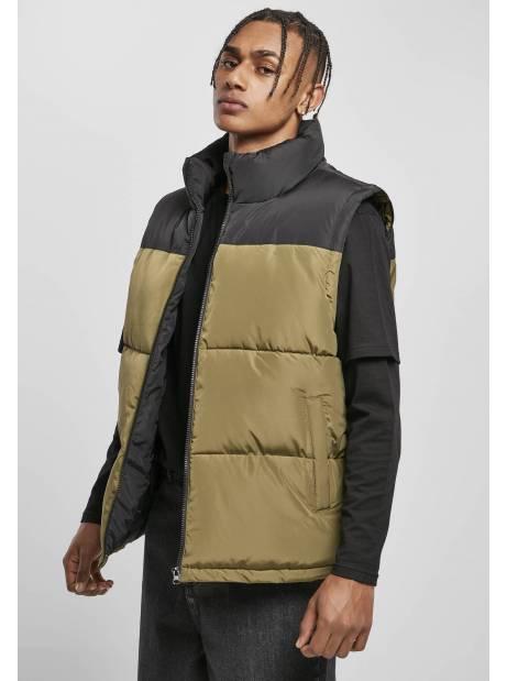 Urban classics TB4476 Block Puffer Vest - black/tiniolive Urban Classics Jackets 65,00€