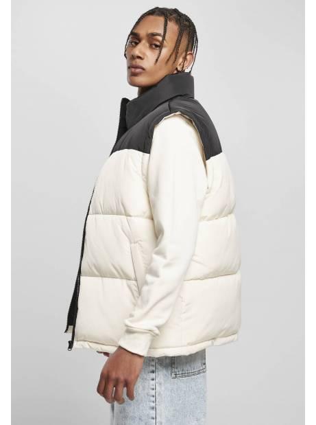 Urban classics TB4476 Block Puffer Vest - black/whitesand Urban Classics Jackets 65,00€